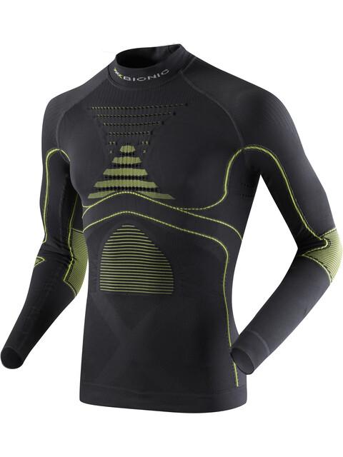 X-Bionic Accumulator EVO UW LS Turtle Neck Shirt Men Charcoal/Yellow